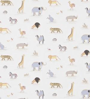 Papel pintado animales de la sabana africana fondo avellana Desert Animals 564947