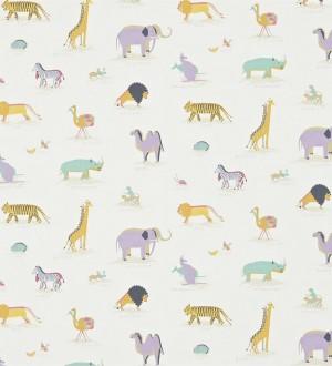 Papel pintado animales de la sabana africana fondo avellana Desert Animals 564948