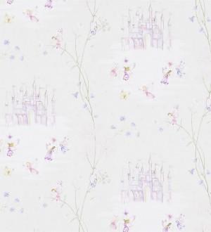 Papel pintado castillos de cuento y hadas malva fondo beige claro Cool Castle 564952