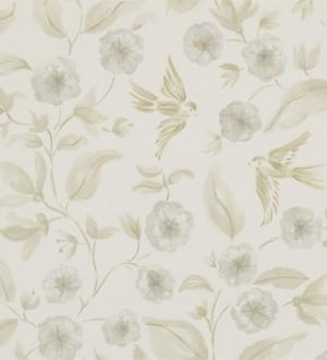 Papel pintado flores y pájaros de acuarela estilo inglés Claudine 564993