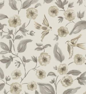 Papel pintado flores y pájaros de acuarela estilo inglés Claudine 564994