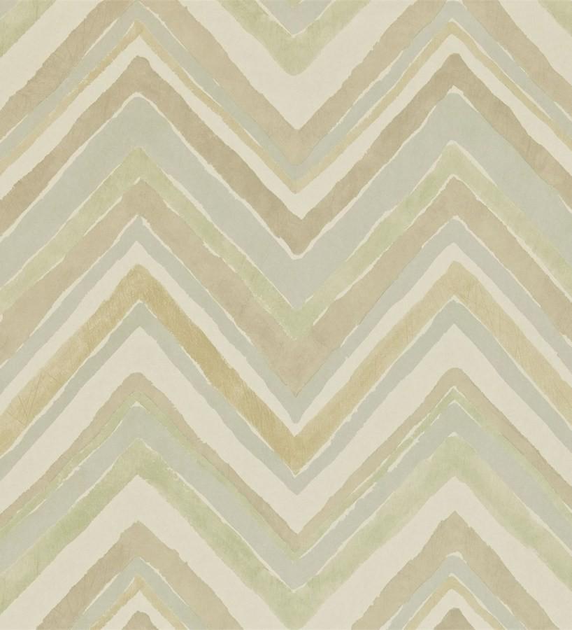 Papel pintado rayas de acuarela en zigzag levert 565008 for Papel pintado de rayas