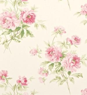 Papel pintado ramos de peonías románticas vintage Alison 565023