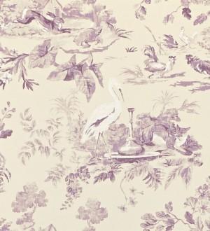 Papel pintado toile de jouy artístico de animales y naturaleza Natural Garden 565029