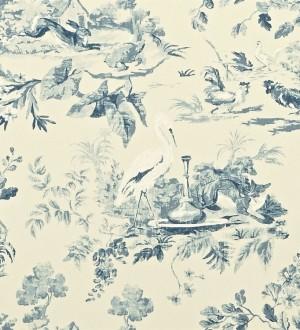 Papel pintado toile de jouy artístico de animales y naturaleza Natural Garden 565030