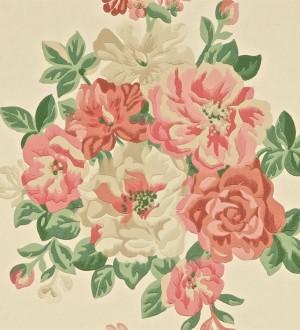 Papel pintado ramos de flores grandes artísticas Lionor 565041