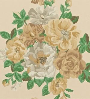 Papel pintado ramos de flores grandes artísticas Lionor 565042