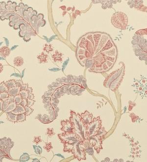 Papel pintado flores y plantas vintage diseño japonés Dornely 565044