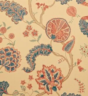 Papel pintado flores y plantas vintage diseño japonés Dornely 565046