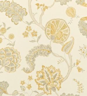 Papel pintado flores y plantas vintage diseño japonés Dornely 565047