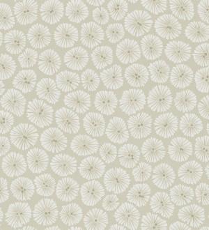 Papel pintado flores pequeñas modernas fondo beige pálido Nicolette 565060
