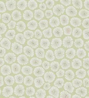 Papel pintado flores pequeñas modernas blanco fondo verde pera Nicolette 565064