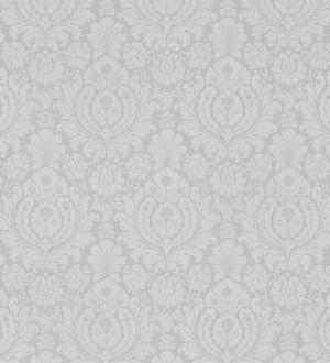 Papel pintado damasco clásico diseño vintage fondo gris Rovere 565160