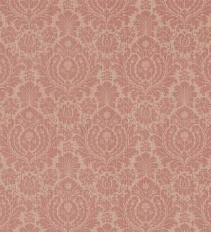 Papel pintado damasco clásico diseño vintage marrón terracota Rovere 565164