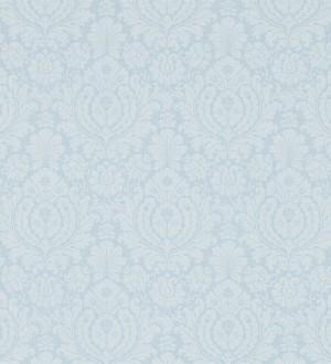 Papel pintado damasco clásico vintage celeste claro pálido Rovere 565165
