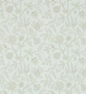 Papel pintado naturaleza de hojas artesanales fondo verde pastel claro Tiarella 565176