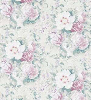 Papel pintado flores románticas al óleo vintage morado arcilla Estefanía 565180
