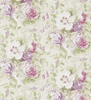 Papel pintado flores románticas al óleo vintage morado arcilla Estefanía 565182