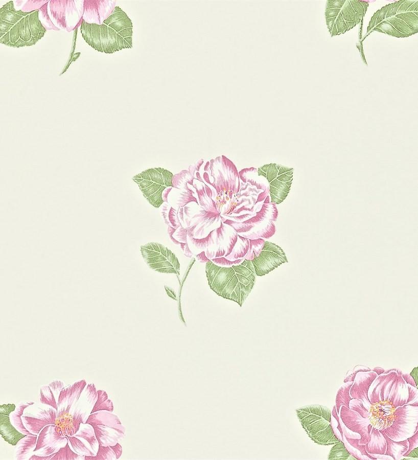 Papel pintado flores artísticas románticas vintage Tania 565219