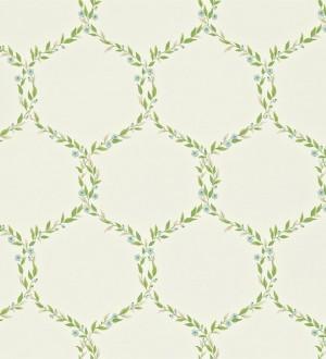 Papel pintado ornamental de hojas de laurel artístico Lenoire 565241