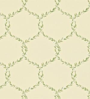 Papel pintado ornamental de hojas de laurel artístico Lenoire 565242