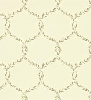 Papel pintado ornamental de hojas de laurel artístico Lenoire 565243
