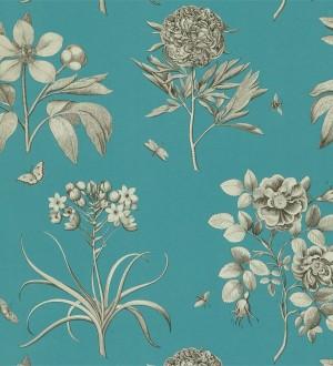 Papel pintado flores grandes artísticas vintage Hanna 565306