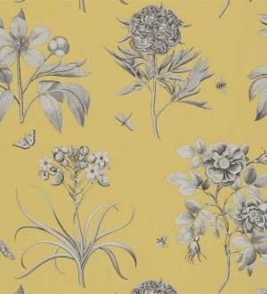Papel pintado flores grandes artísticas vintage Hanna 565307