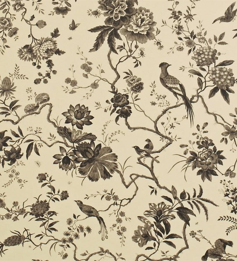 Papel pintado flores y pájaros estilo japonés artístico Agnes 565344