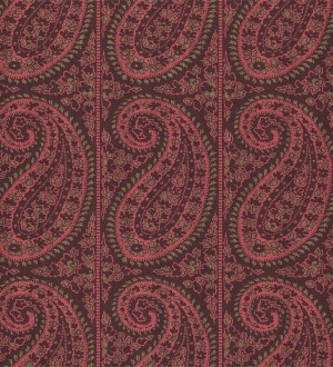 Papel pintado rayas verticales con motivos cashmere Latika 565349