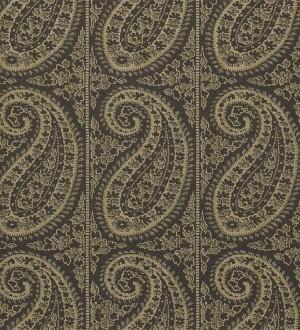 Papel pintado rayas verticales con motivos cashmere Latika 565350