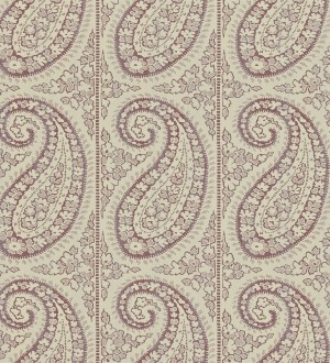 Papel pintado rayas verticales con motivos cashmere Latika 565351