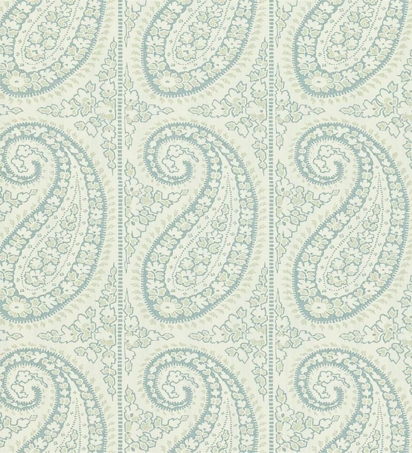 Papel pintado rayas verticales con motivos cashmere Latika 565352