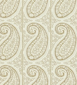 Papel pintado rayas verticales con motivos cashmere Latika 565353