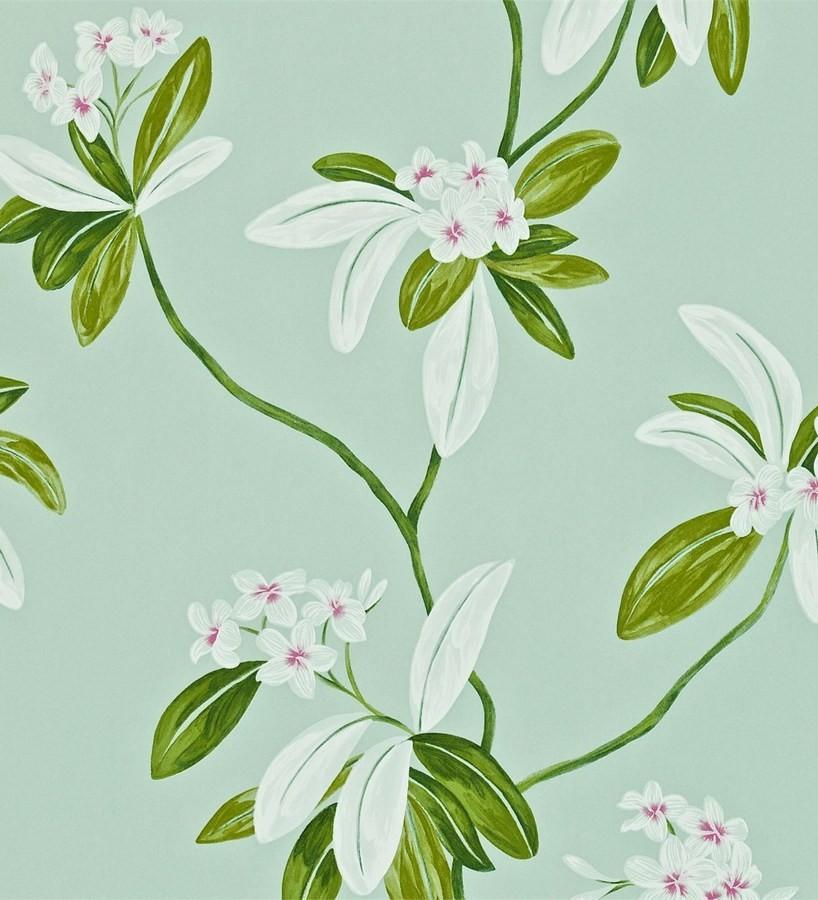 Papel pintado flores y hojas delgadas vintage al óleo Givanna 565354