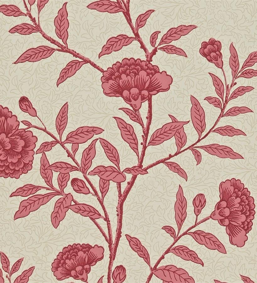 Papel pintado claveles vintage con remates de lujo Helen 565362