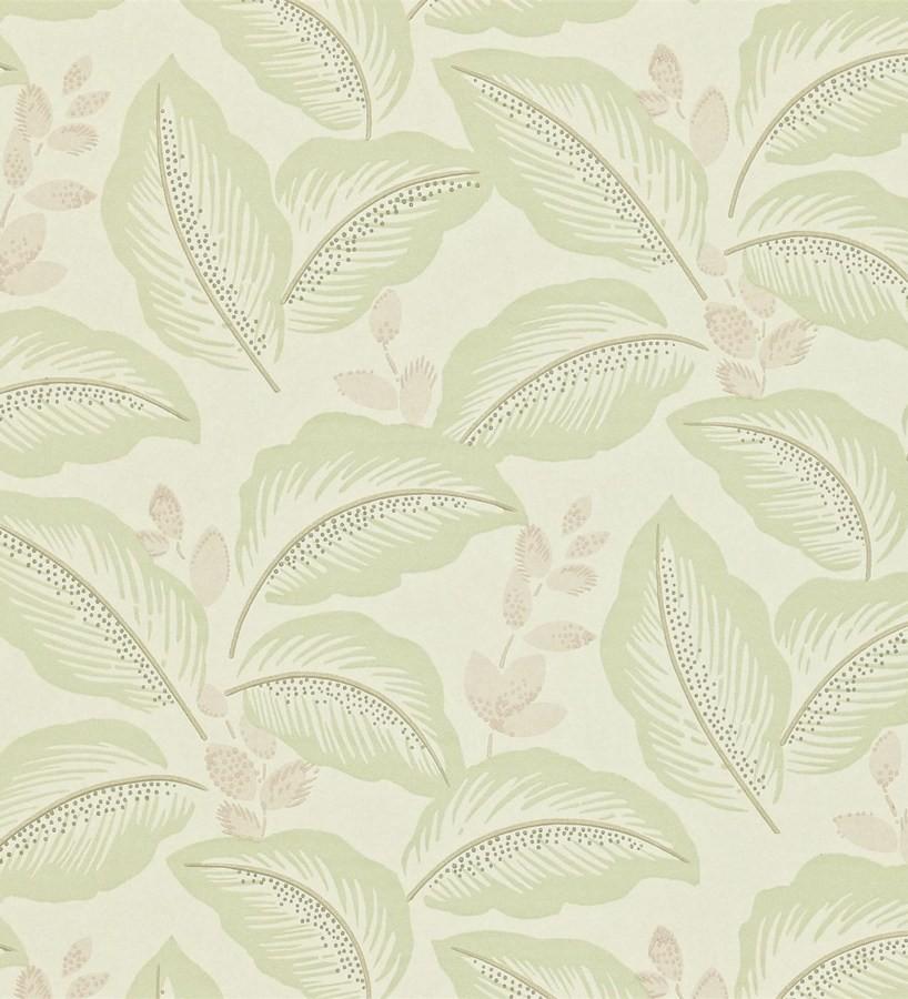 Papel pintado hojas tropicales artísticas diseño vintage Taigla 565363