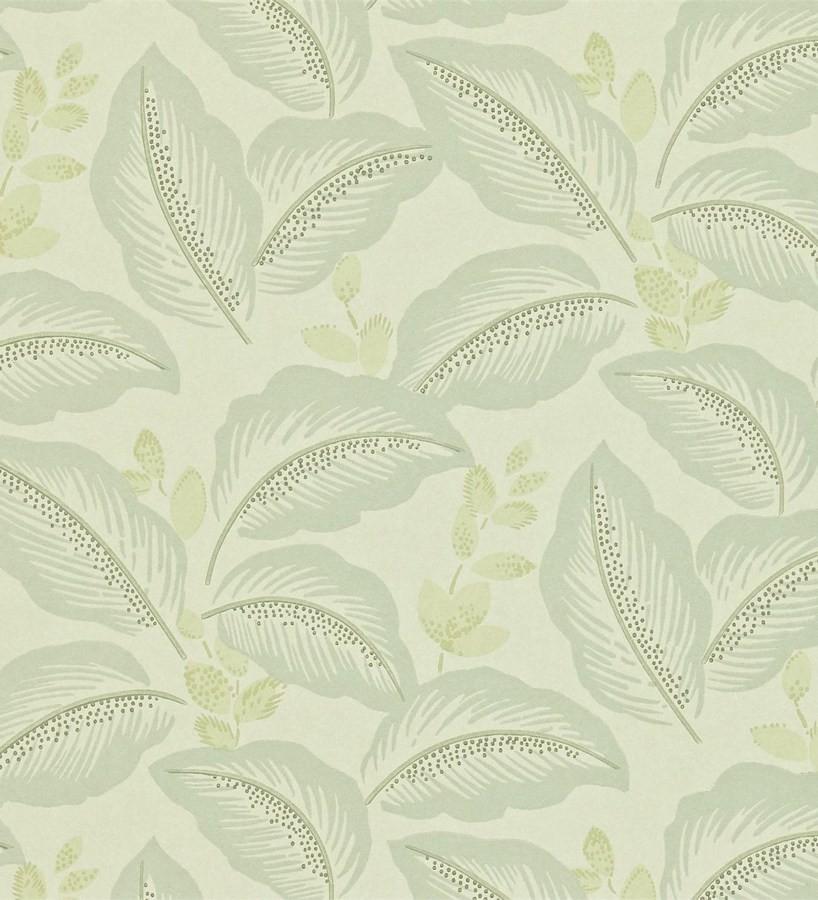 Papel pintado hojas tropicales artísticas diseño vintage Taigla 565364