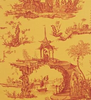 Papel pintado toile de jouy dise o oriental ascentral for Papel pintado oriental