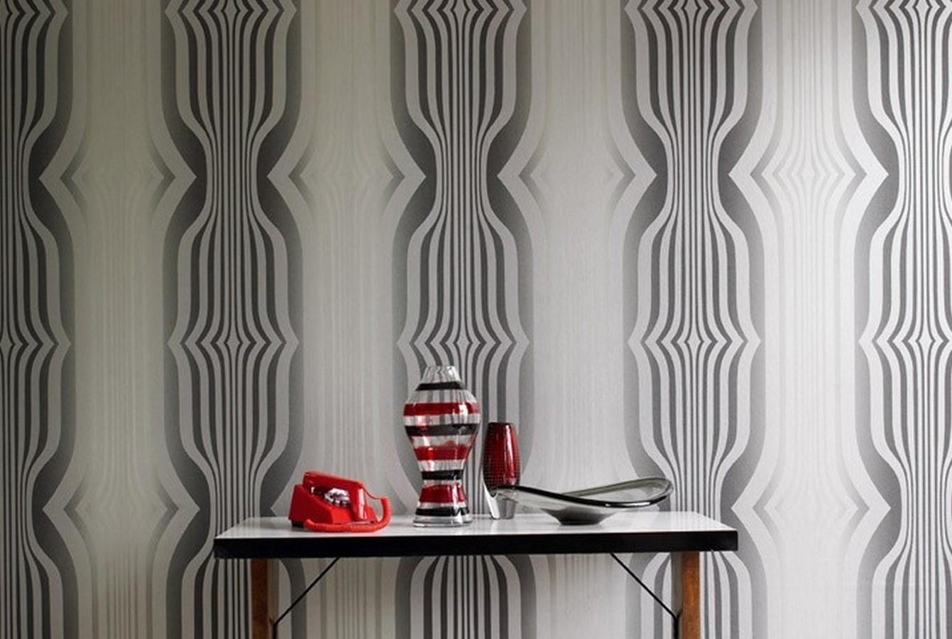 Papel pintado formas abstractas geométricas diseño retro Fincher 565429