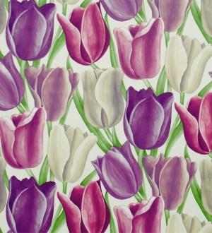 Papel pintado tulipanes artísticos al óleo vintage Dalila 565432
