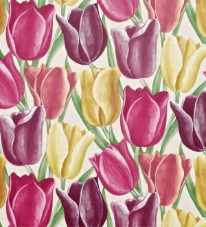 Papel pintado tulipanes artísticos al óleo vintage Dalila 565433