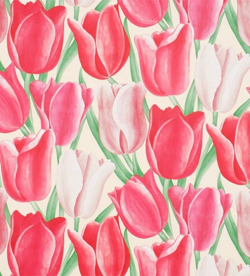 Papel pintado tulipanes artísticos al óleo vintage Dalila 565434