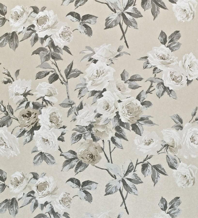 Papel pintado gardenias románticas estilo inglés Silvia 565438