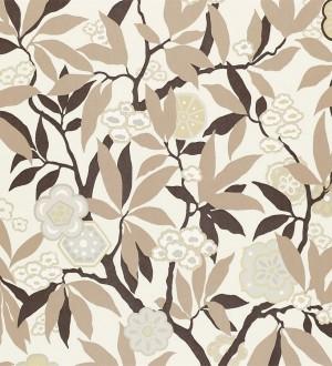 Papel pintado flores y hojas vintage modernas Vidonia 565443