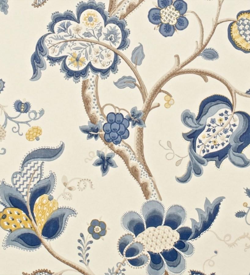 Papel pintado flores grandes diseño cashmere inglés Arlene 565445