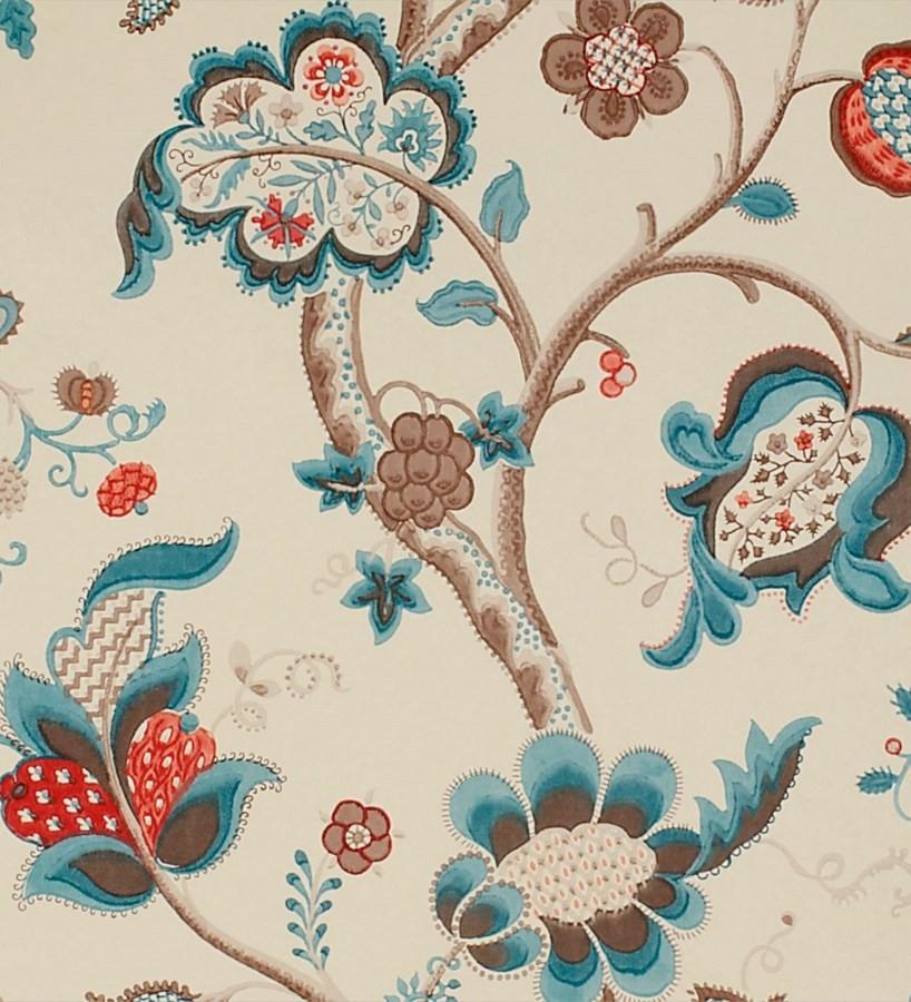 Papel pintado flores grandes diseño cashmere inglés Arlene 565447