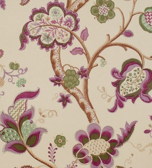 Papel pintado flores grandes diseño cashmere inglés Arlene 565448