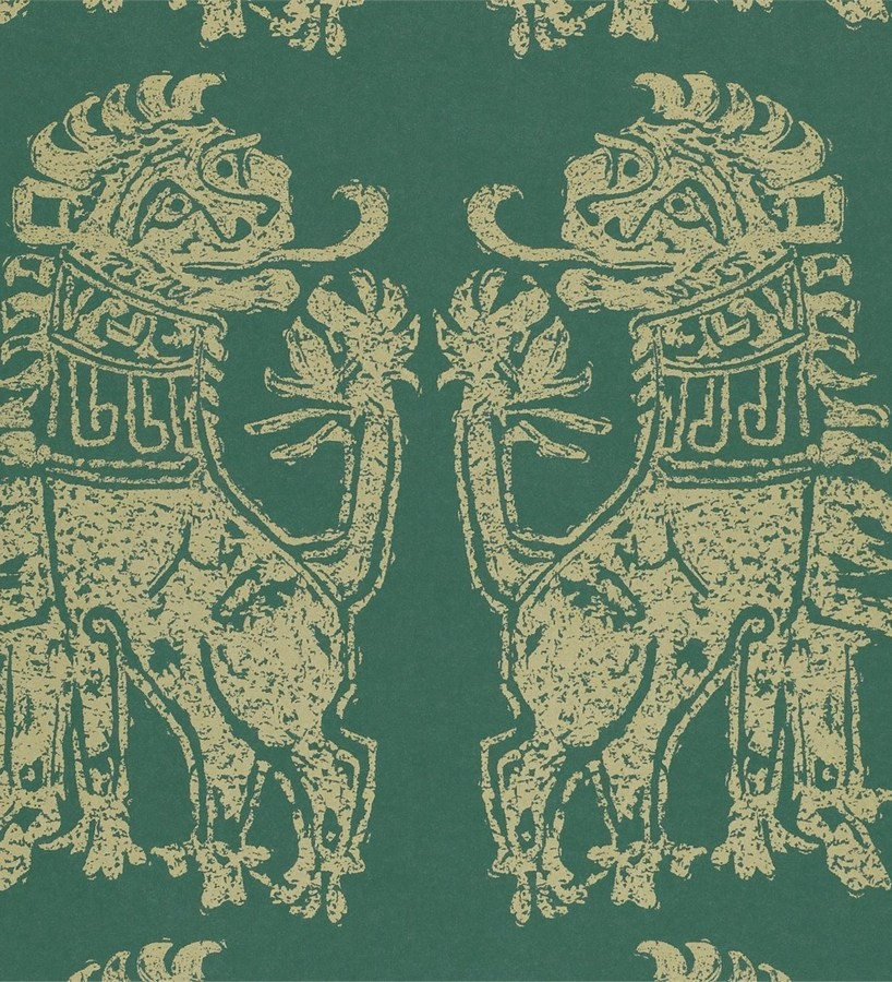Papel pintado leones diseño griego artísticos Shabby Chic Daimaru 565450