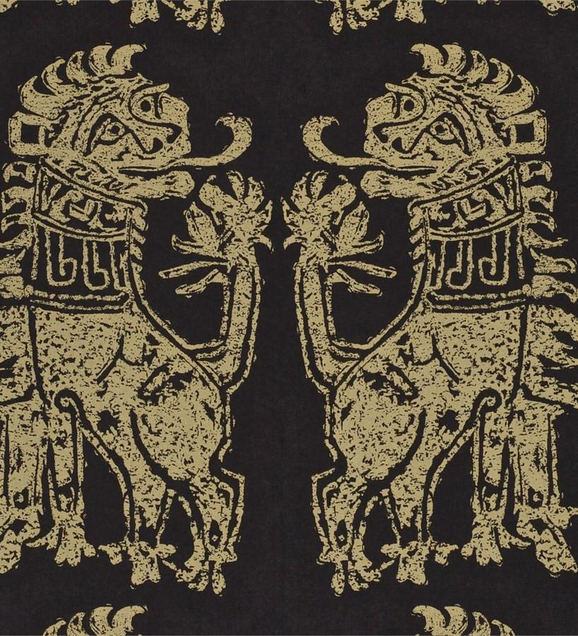 Papel pintado leones diseño griego artísticos Shabby Chic Daimaru 565451